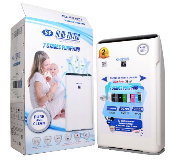 Hepa Filter Rumah sakit / air purifier sure filter 7 tahap filtrasi
