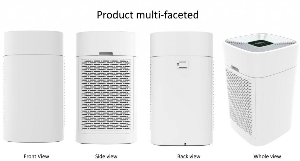 Hepa Filter Portable merk Sure Filter / air purifier swissair